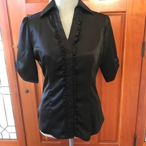Ladies ruffle blouse. New by Lilac Bloom Sz Small